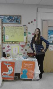 A Youth Ambassador hard at work at her school!