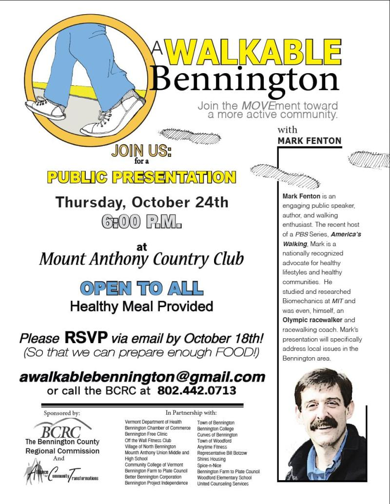 Thursday, October 24 and Friday October 25th community Walkability event