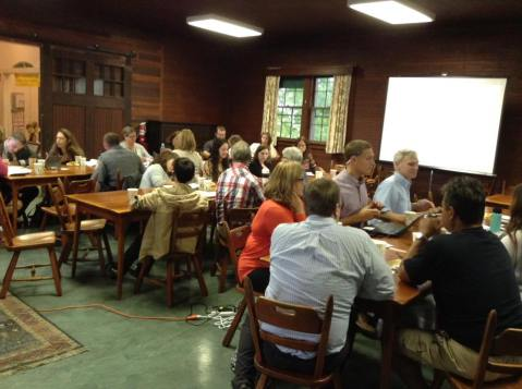 Community members participating in a recent coalition retreat.